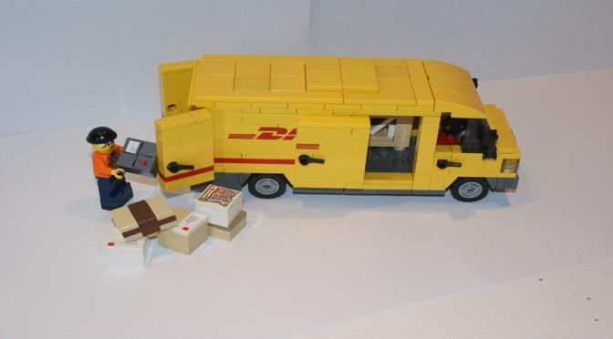 Toy DHL van