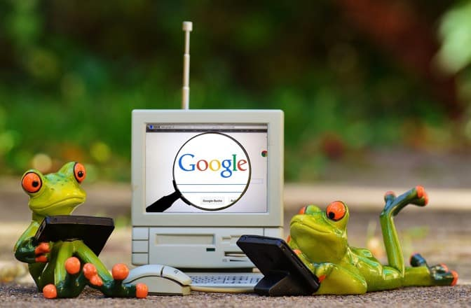 Frogs googling