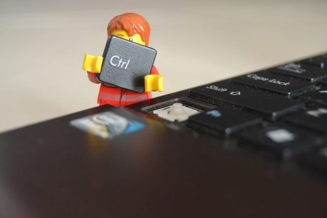 Lego man stealing the CTRL button