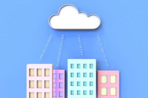 Houses and an AWS cloud