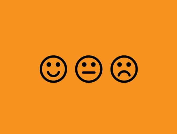 HappySignals measure user satisfaction with smiley faces like this