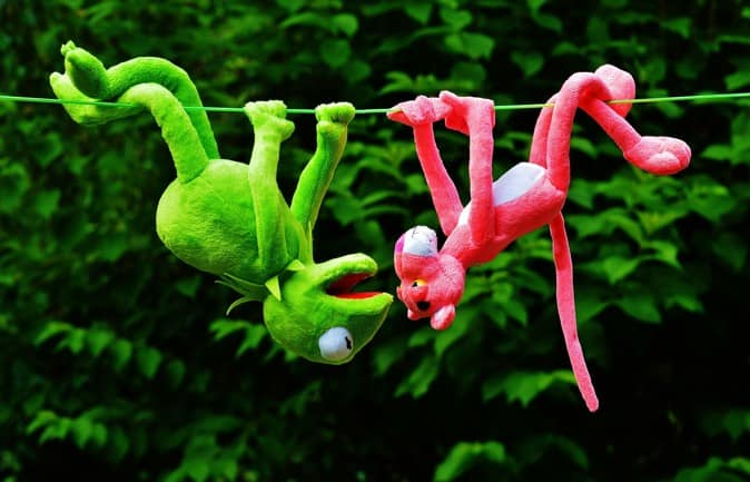 Muppets handing upside down having fun