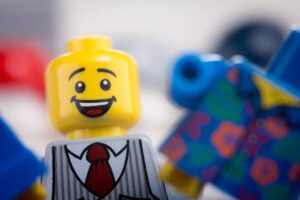 Happy lego man