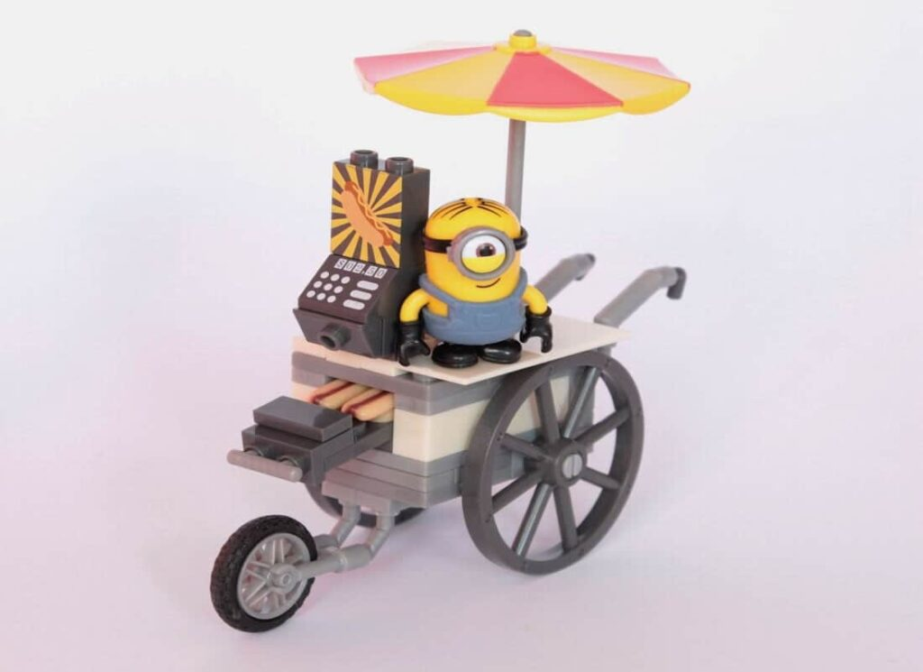 Minion on a cart