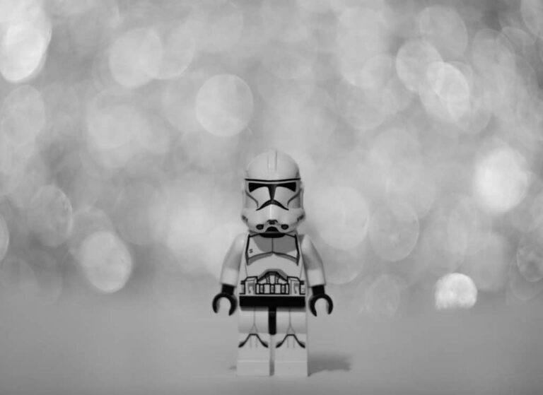 Stormtrooper under lights